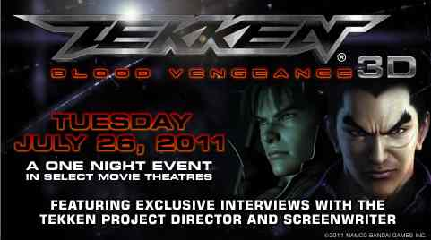Tekken Blood Vengeance In Select Theaters July 26th News Avoiding The Puddle