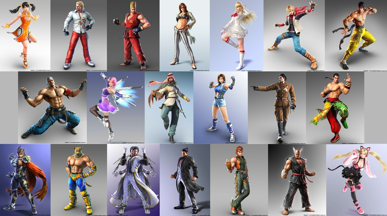 Tekken 7 New Cgi Renders For The Current Roster News Avoiding The Puddle