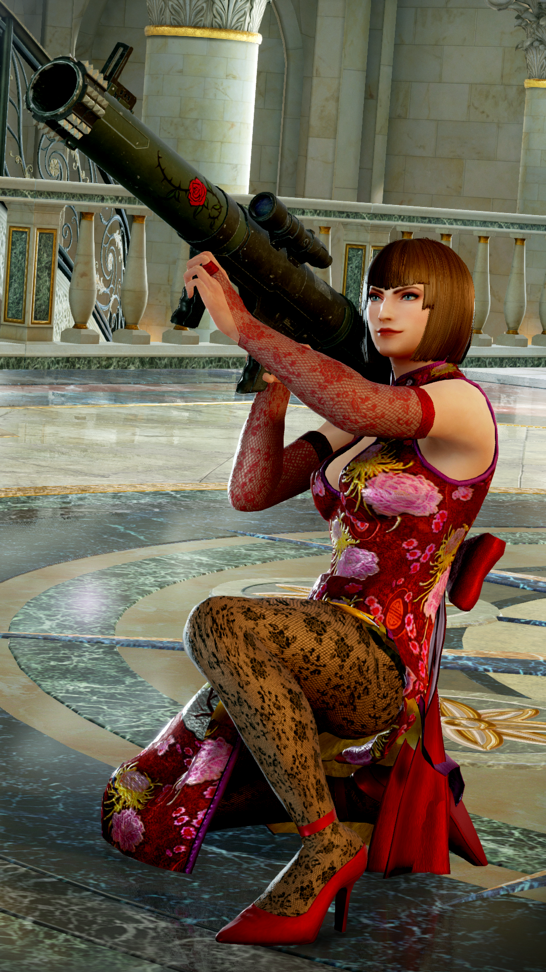 anna williams & lei wulong show off their unique costumes in tekken