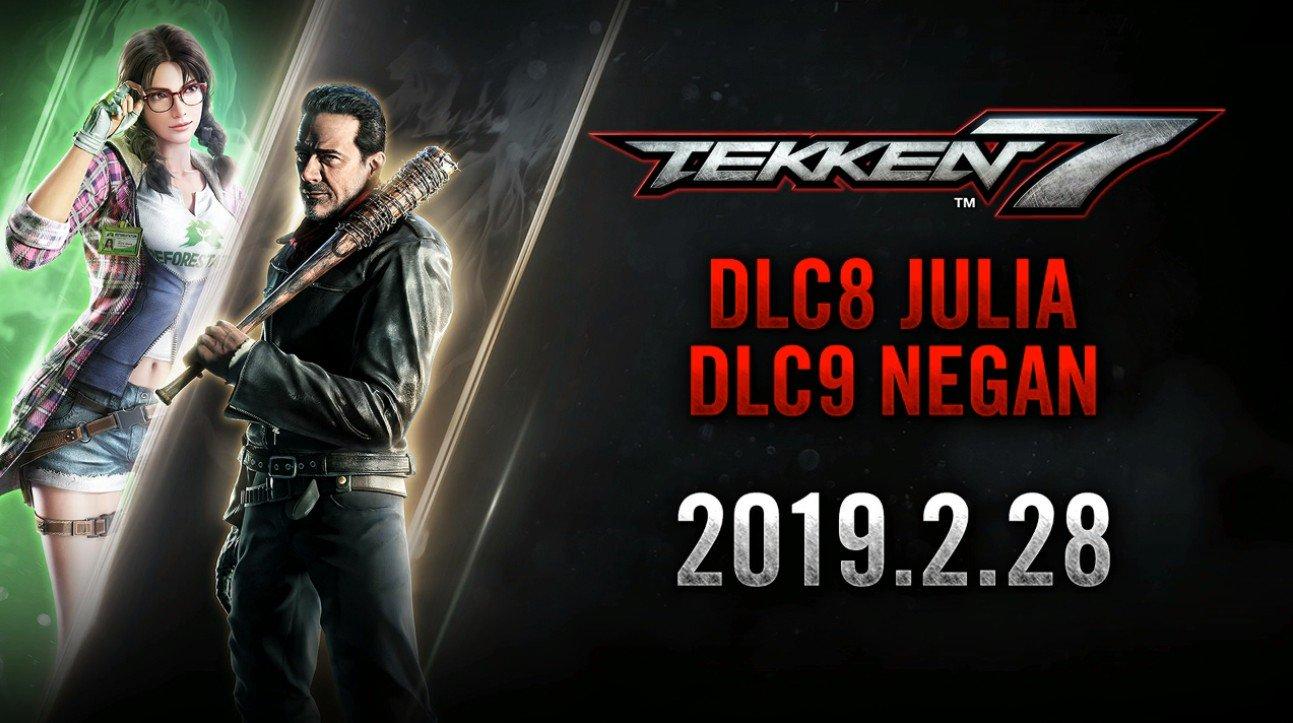 Tekken 7 - DLC Characters Julia Chang & Negan Launches February 28
