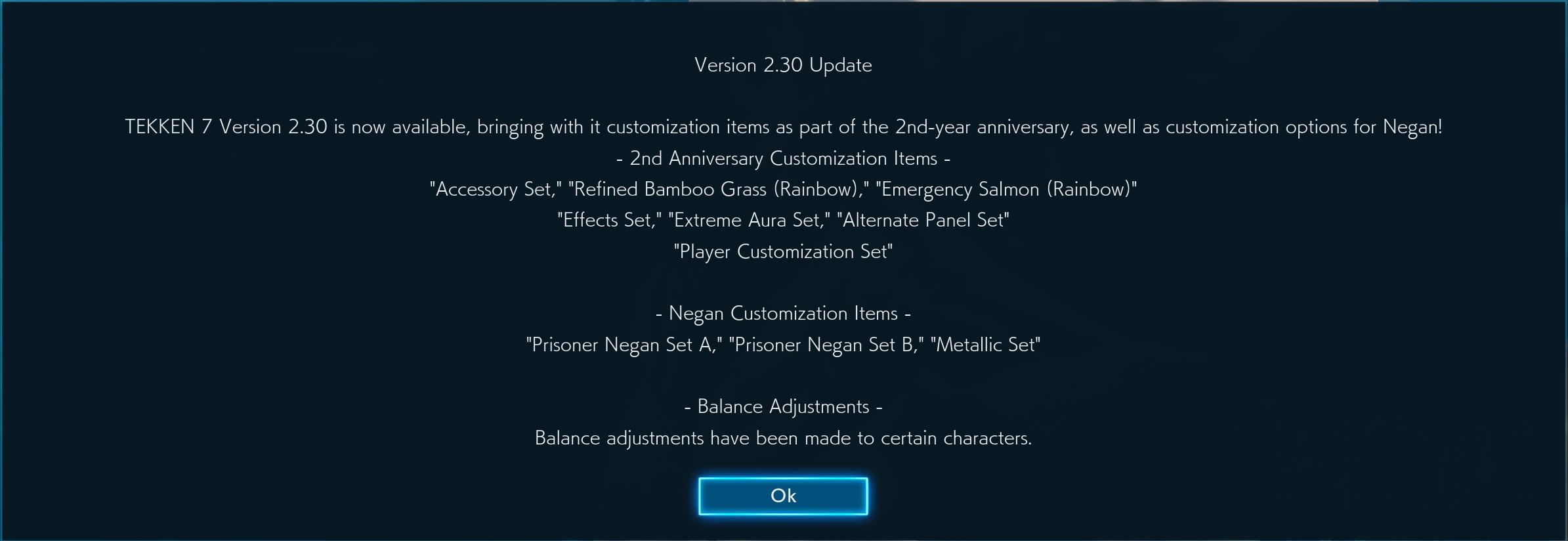 Free DLC update incoming to celebrate Tekken 7's 2-year anniversary