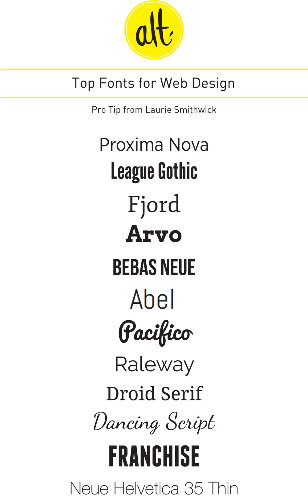 Alt Design Summit Blog Pro Tips The Best Fonts For