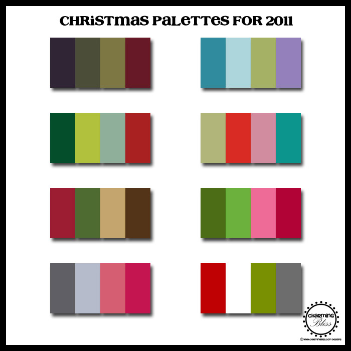 Christmas Colors Palette.Charming Bliss Charming Bliss Blog New Christmas Color