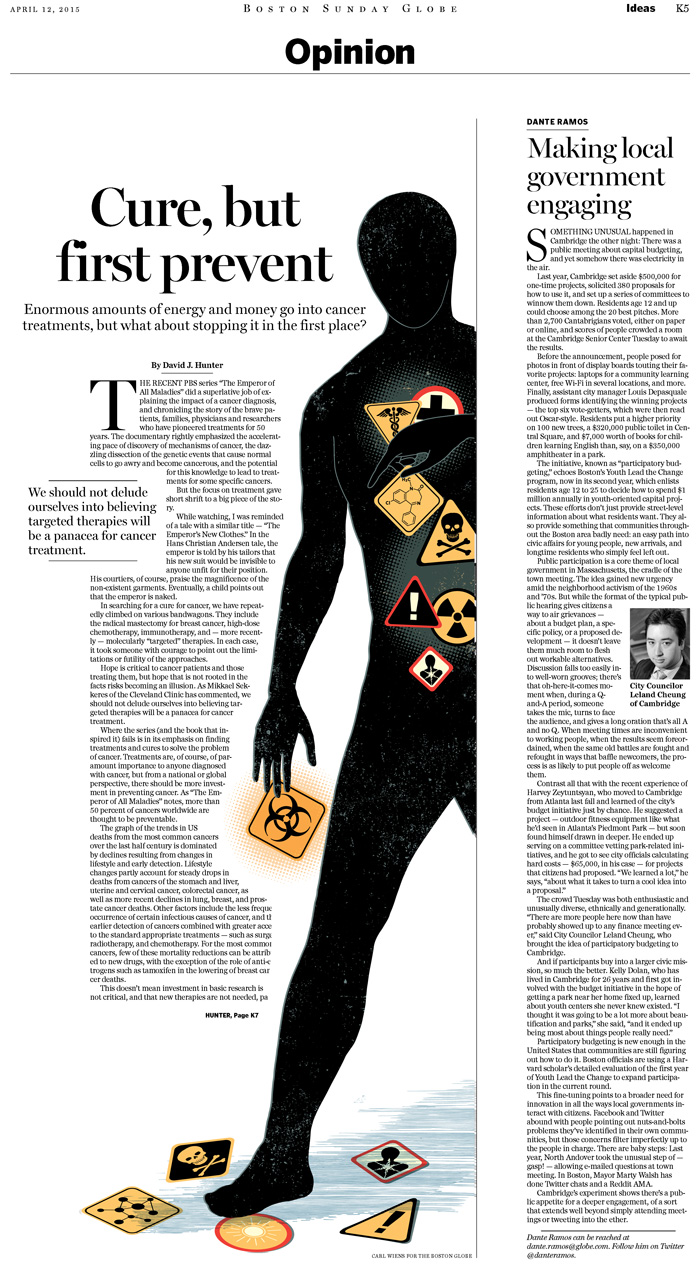 Carl Wiens Illustration Home Cancer Treatment Op Ed