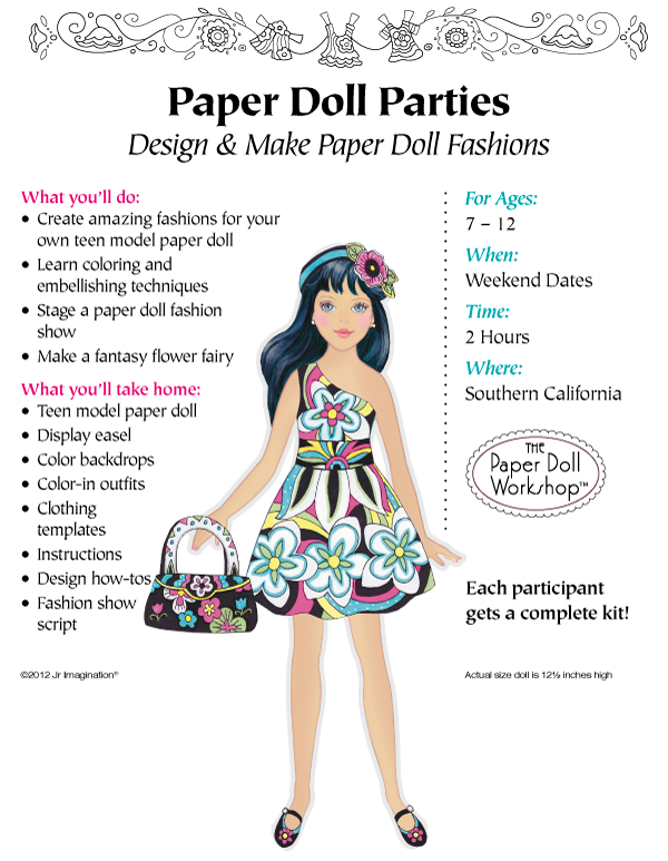 Take Home: An exclusive teen model paper doll kit with a special displayer, ...