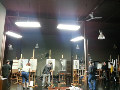 overhead lighting best lighting for art studio