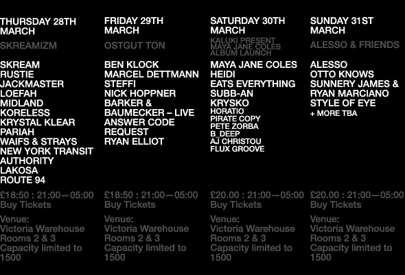 The House Of Coxhead - Home - The Warehouse Project announce