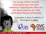 Can Young Children Provide Meaningful Input Into Their Wellbeing? Exploring the Utility of a Self-Report Measure for Child Wellbeing in Kenya and Rwanda
