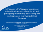 Self-Esteem, Self-Efficacy and Hope Among Vulnerable Adolescents Affected by HIV and Participating in Community-Based Savings and Lending Groups in Rural Nyanga District, Zimbabwe
