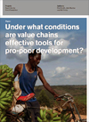 Under What Conditions Are Value Chains Effective Tools for Pro-poor Development?