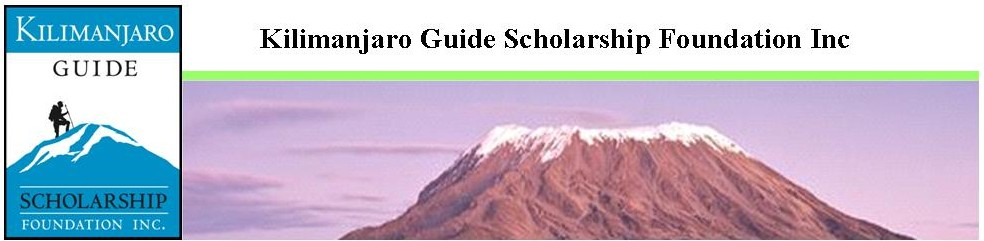 Kilimanjaro Guide Scholarhsip Foundation Inc.