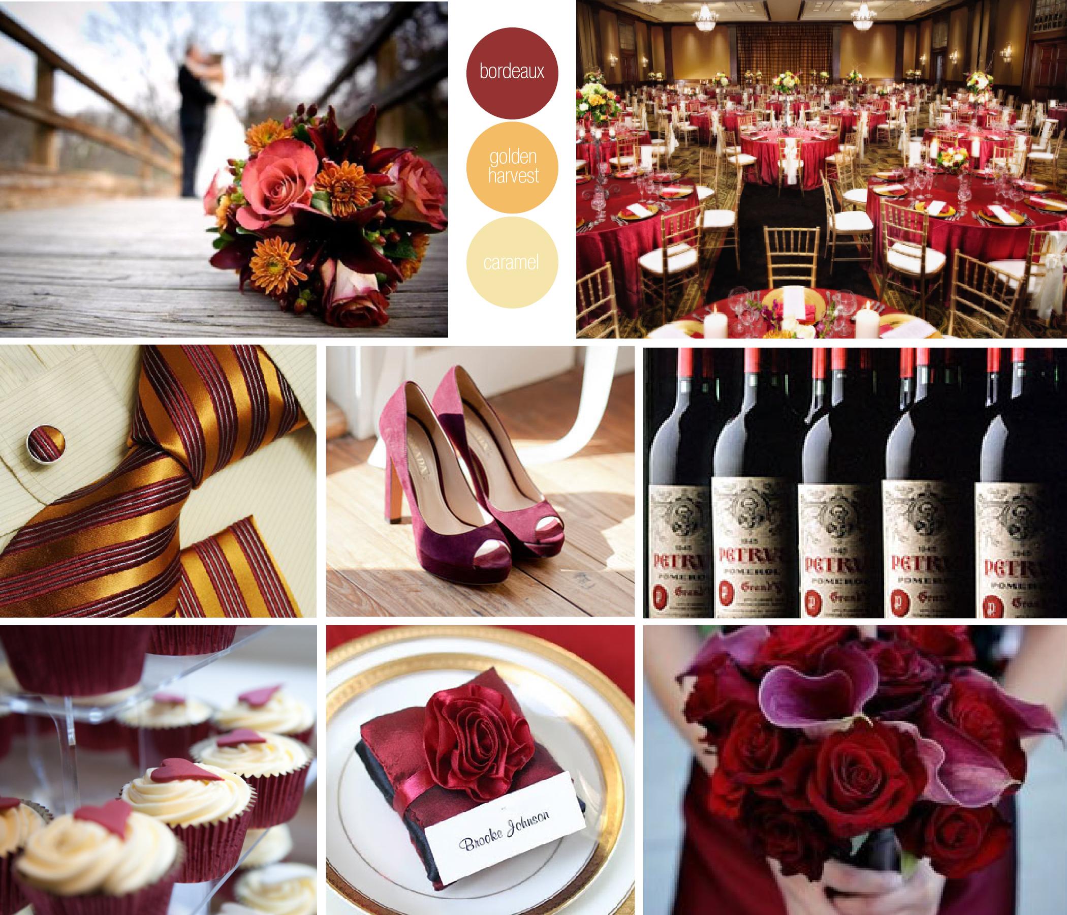 Matrimonio In Bordeaux : Matrimonio color burdeo
