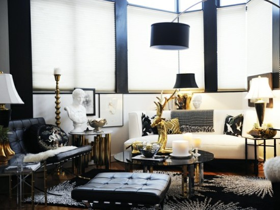 Black and white decor inspiration style edition blog for Hollywood glam living room ideas