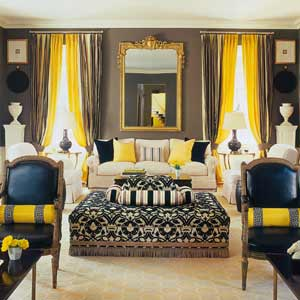 Black And Yellow All Over Fashion Decor Inspiration