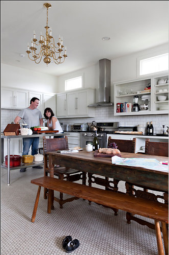 How Great Is This Weathered Farmhouse Table For A Family Kitchen?