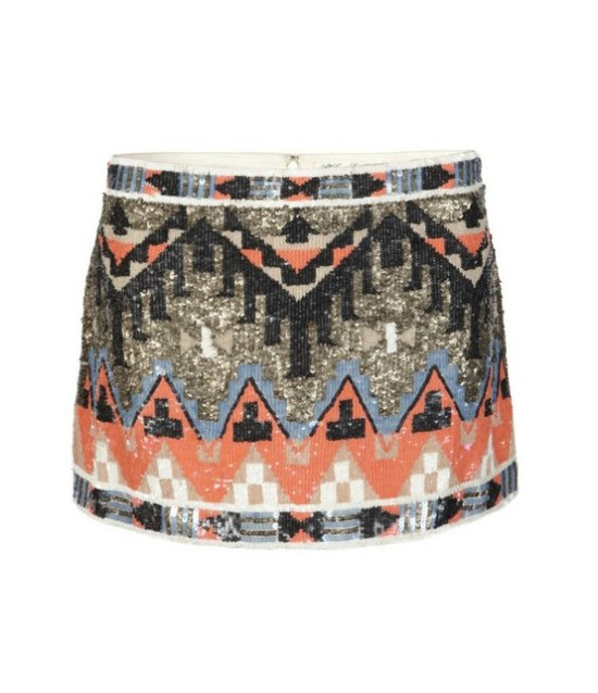 Aztec Sequin Print Mini Skirt - Style-Edition Blog - style-edition