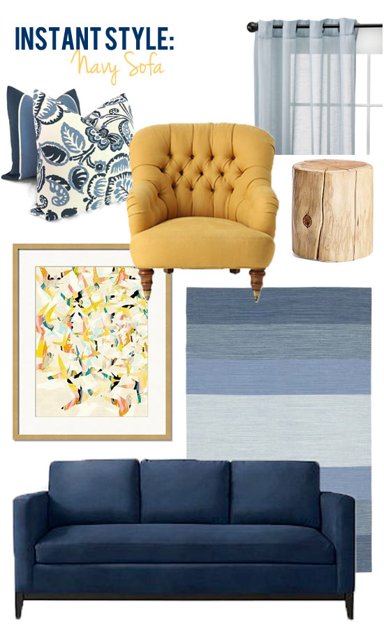 Style edition blog style edition for Blue couch living room