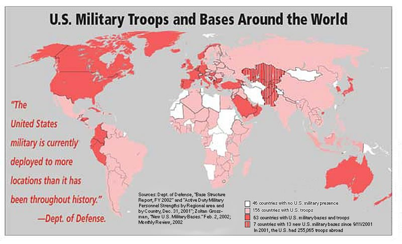 Prophecy Podcast Journal US Military Bases - Us map of military installations