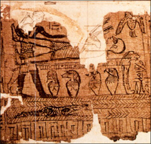 Source papyrus for Facsimile 1