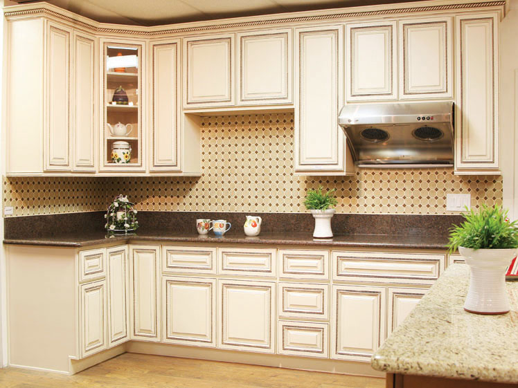 Kitchen cabinets wholesale mushroom for Antique glazed kitchen cabinets