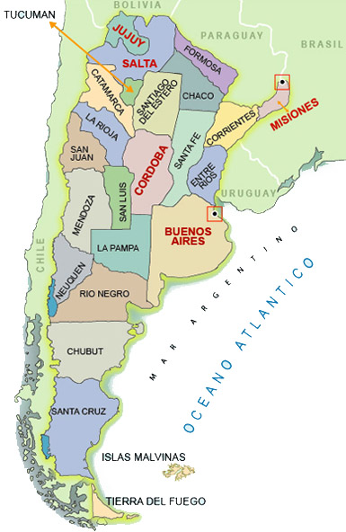 Intertrade USA Company Importers And Distributors Of Fine Wines - Argentina regions map