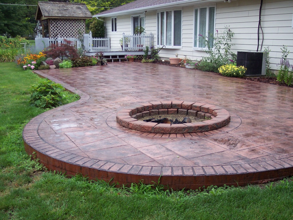 Indiana stamping concrete and polyaspartic coating - Concrete backyard design ...
