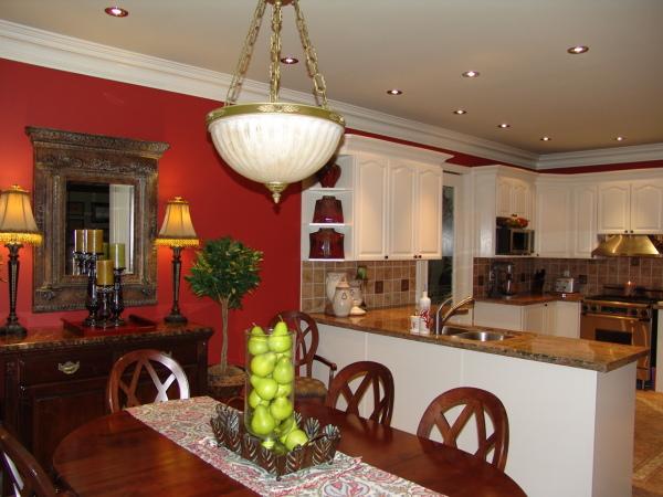 Kitchen Ideas White Cabinets Red Walls - Sarkem.net