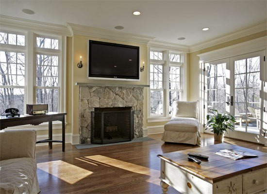 Living Room With Fireplace And Tv On Opposite Walls christine fife interiors - design with christine