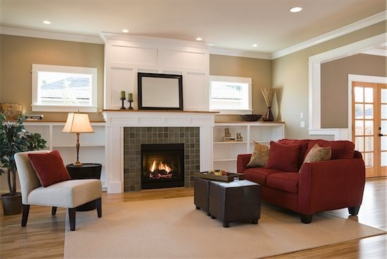 painted white brick fireplaceChristine Fife Interiors  Design With Christine