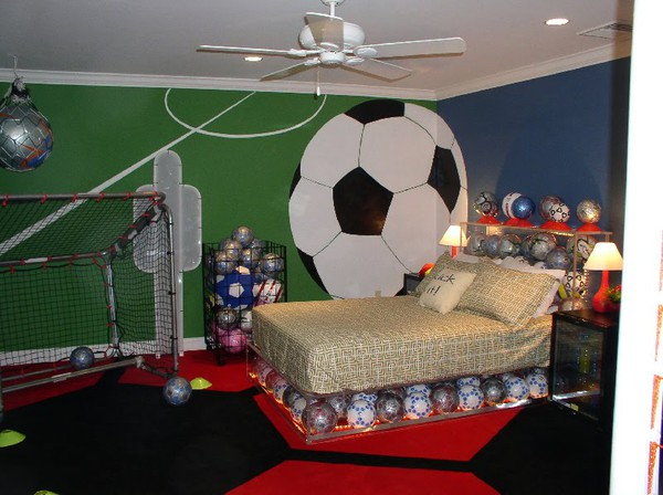 Christine fife interiors design with christine the for Boy football bedroom ideas