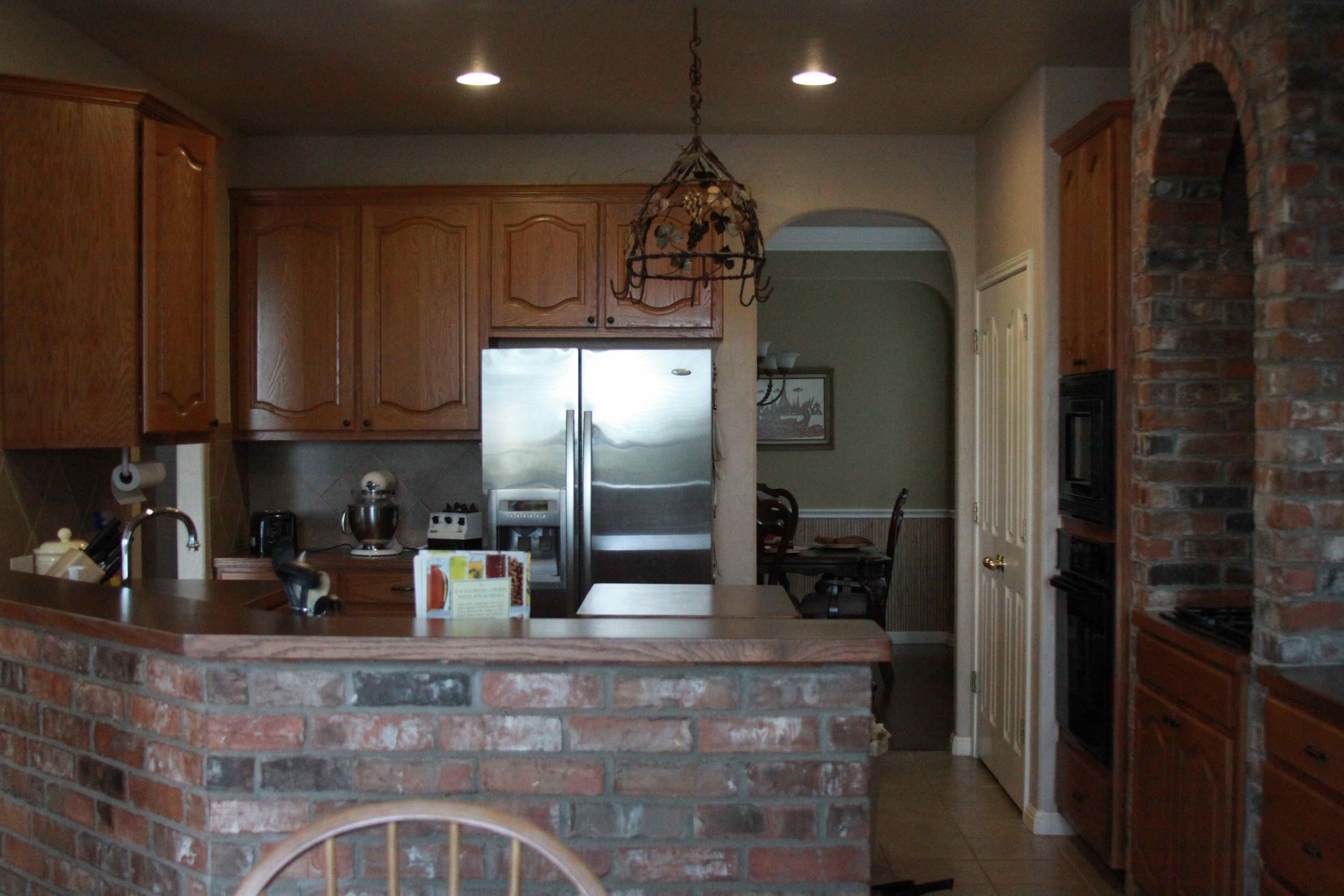 Wonderful Country Kitchens Brick Backsplash