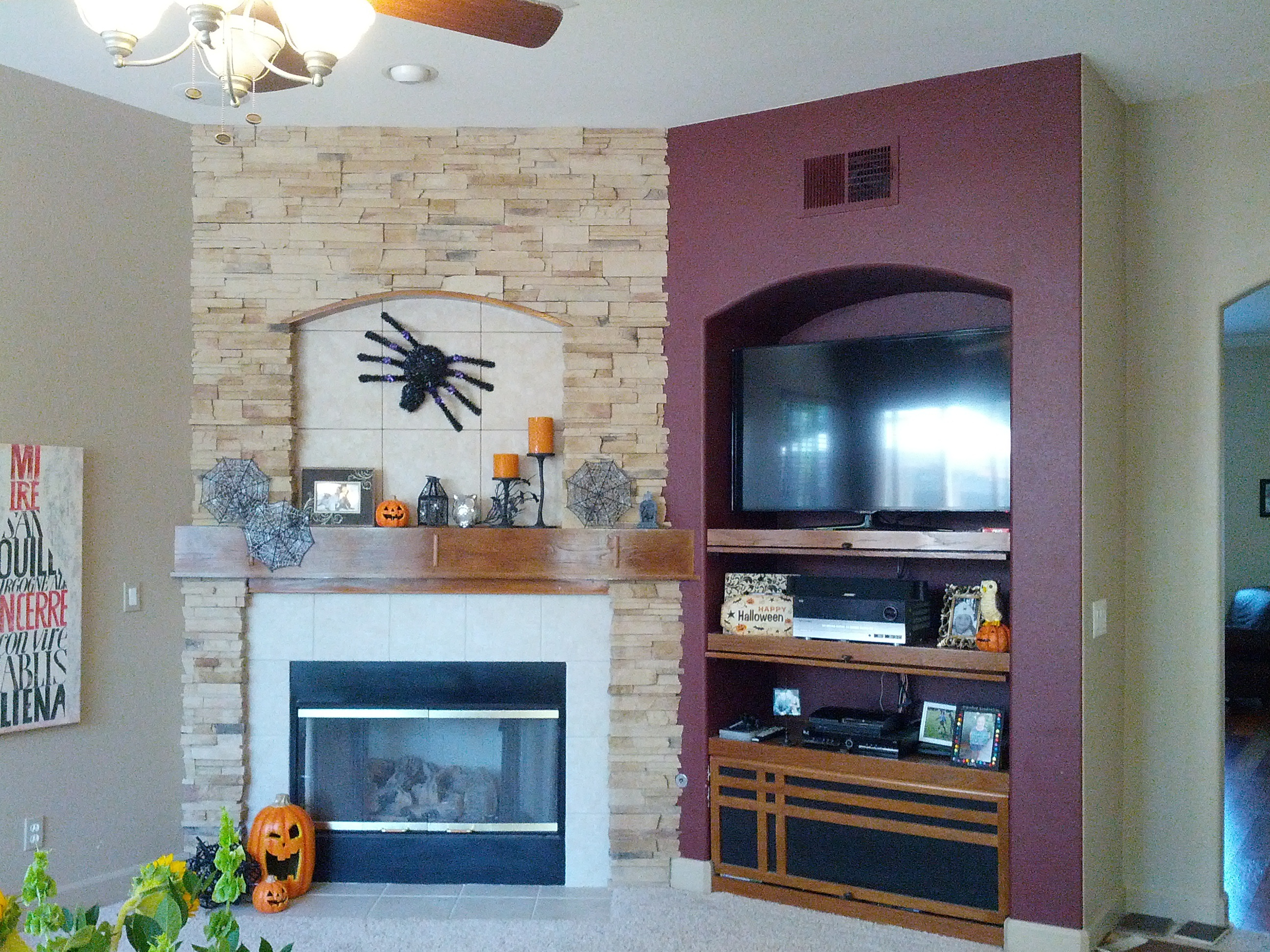 Enjoyable How To Decorate Tv Niche Above Fireplace Fireplace Design Interior Design Ideas Oxytryabchikinfo