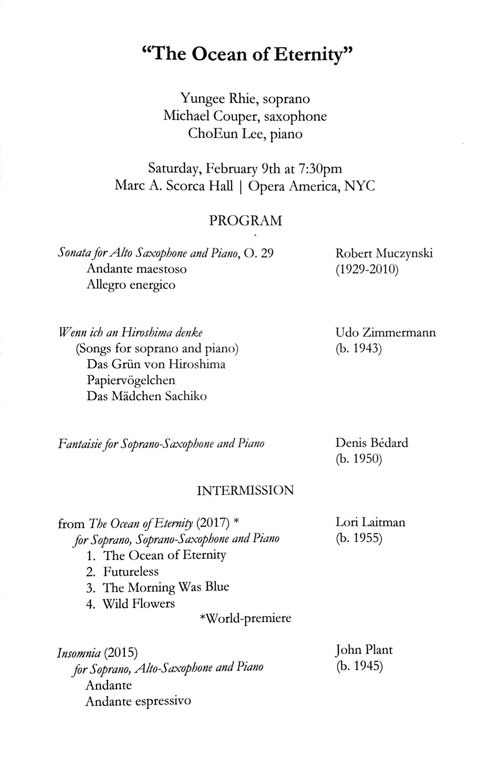 best loved 18680 1021c Lori Laitman, Composer - News - The Ocean of Eternity ...