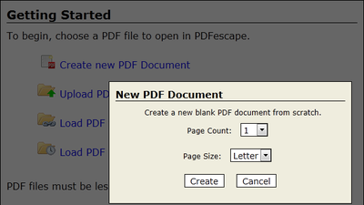 how to create new pdf in drawboard