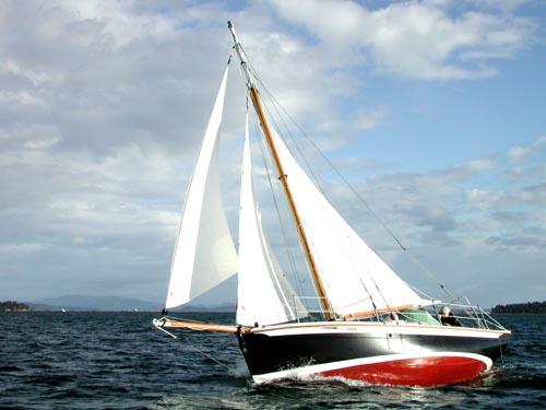 """Gartside Boats - Custom Boatbuilding - 22ft Gaff Cutter """"Surprise"""" Design #95"""