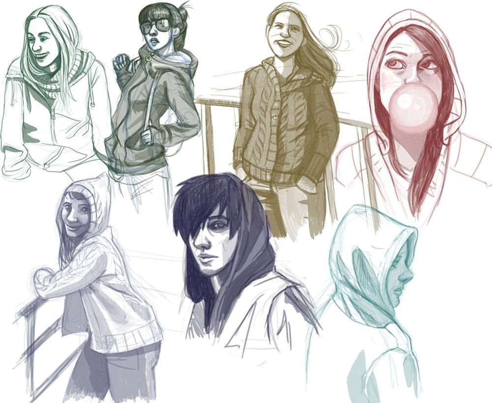 Drawing hoodies