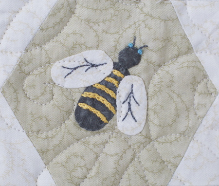 Bee In My Bonnet: Nail Polish Mini Quilt - Free Pattern