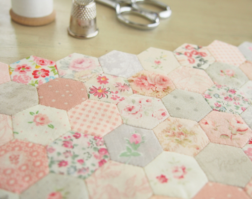 Thimble Sized Hexagons Pretty By Hand