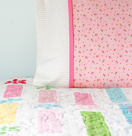 American patchwork and quilting pillowcase challenge