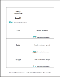 picture regarding Printable Music Flashcards titled Cost-free Printable Audio Worksheets Opus Tunes Worksheets