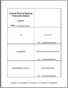 Printables General Music Worksheets free printable music worksheets opus most commonly used italian musical markings and their definitions 85 in level 1