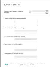 Free Printable Music Worksheets   Opus Music Worksheets   Music ...