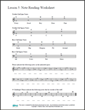 Worksheets Reading Music Worksheets free printable music worksheets opus theory worksheet lesson 5 the staff note reading exercises