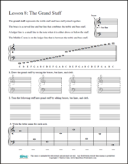 Worksheet Piano Theory Worksheets free printable music worksheets opus lesson 9 ledger lines