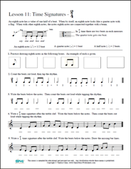 Worksheets Teaching Worksheets free printable music worksheets opus lesson 12 eighth notes