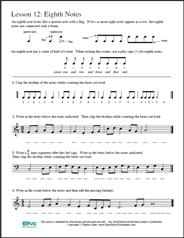 Prep Rhythm Worksheets: Quarter Rest &amp- Note, Eighth Note, Za, Ta ...