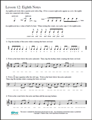 Printables Piano Theory Worksheets free printable music worksheets opus lesson 12 eighth notes theory worksheet