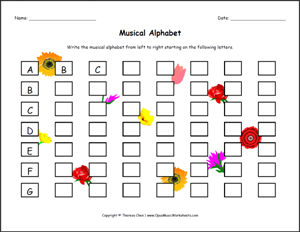 ... Music Theory Worksheets - Music Theory Young Child 07 Musical Alphabet