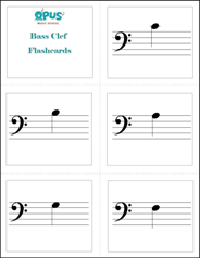 Simplicity image with printable music notes flashcards