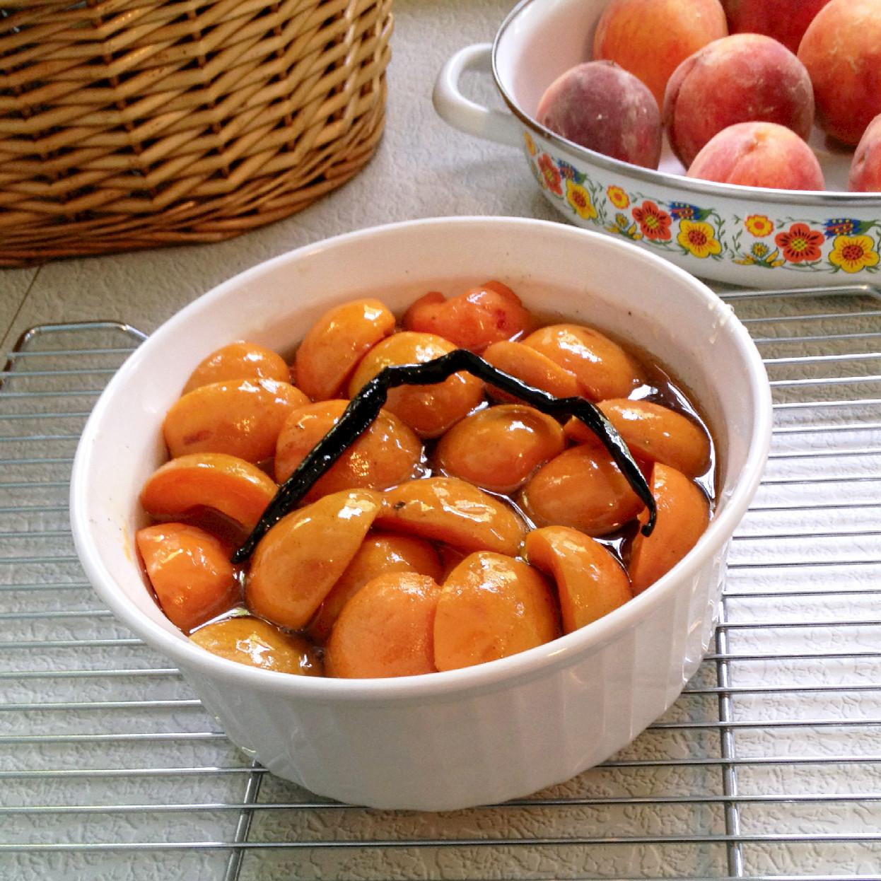 Bourbon-Poached Peaches. But unlike the peach recipe, I do not peel ...